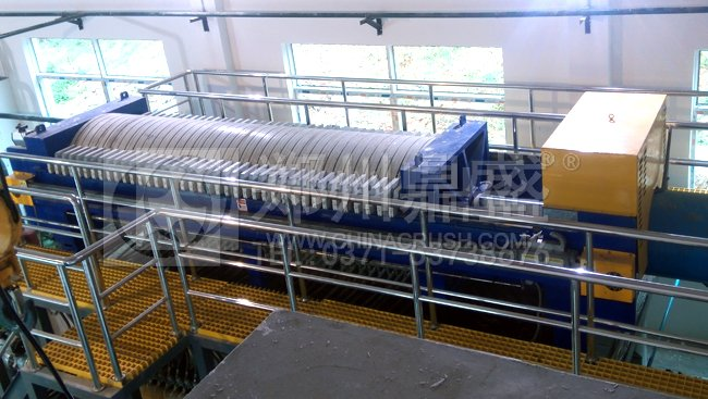 超高压污泥压干机在陕西污水处理厂对污泥进行深度脱水
