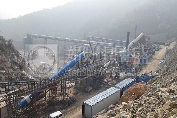 河北兴隆帅宝大型砂石骨料生产线