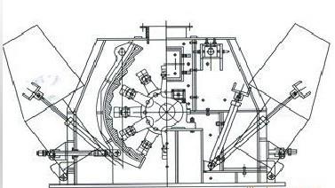 可逆锤式破碎机结构原理图