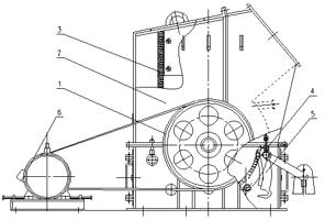 单段细碎机结构原理图