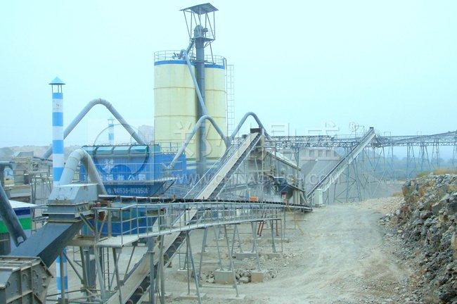 山东青州金龙日产8000吨石灰石粉碎联产砂石生产线