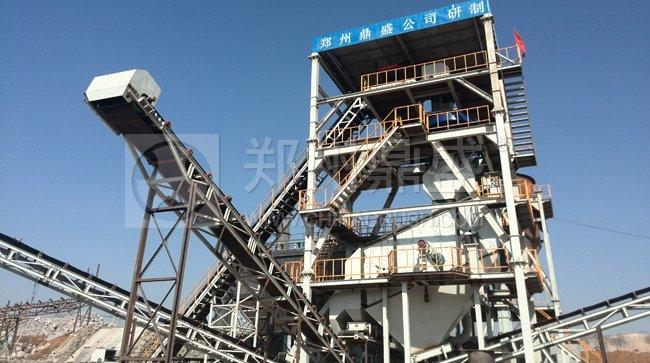 新乡新亮建材有限公司时产400吨短流程制砂系统