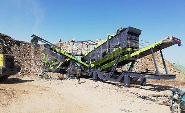 郑州long8 vip注册轮胎式建筑垃圾处理设备在北京建筑垃圾处置项目资源化率