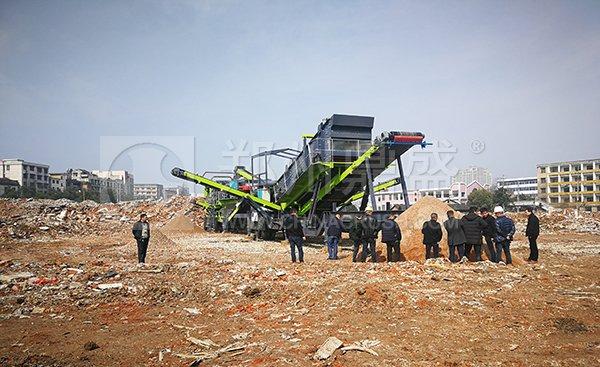 郑州long8 vip注册建筑垃圾处理设备助力湖南宁乡建筑垃圾资源化