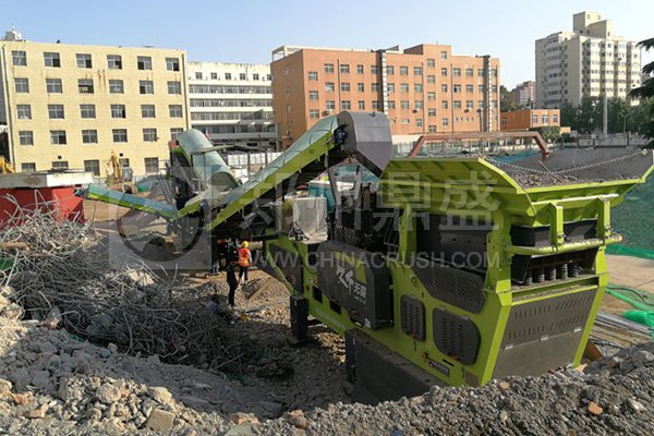 郑州long8 vip注册WAF430轮胎式long8龙8首页站助力西安资源化利用