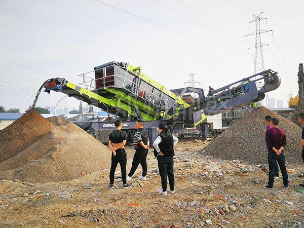 移动破碎站是目前生产效率较高的设备