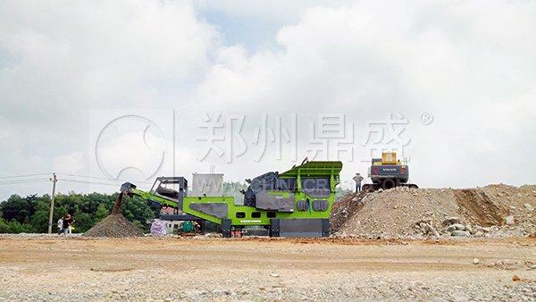 移动式破碎机生产砂利润可观
