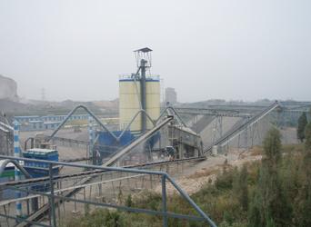 山东青州金龙石灰石砂石骨料生产线全景图