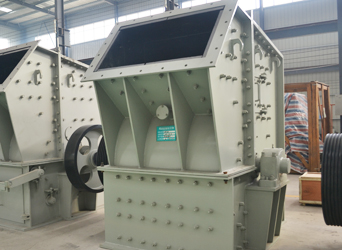 图一:焦作伟太环保公司引进鼎盛单段细碎机用于建筑垃圾处理