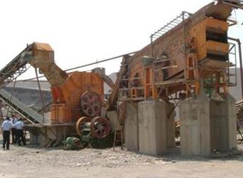 鼎盛XPCF高效细碎机作业于国外石料生产线