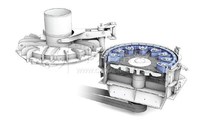 图为rpm干粉砂浆专用制砂机内部结构图