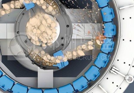 环形衬板结构德国BHS制砂机工作原理