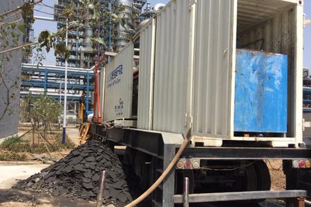 车载式污泥压干机渭南使用现场