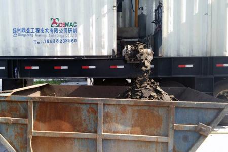移动式超级污泥压干机安康使用效果