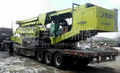 上海时产250吨履带移动建筑垃圾处理系统