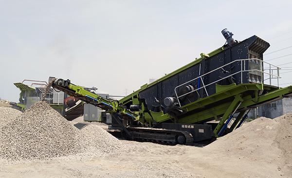 山东滕州时产250吨履带式移动long8龙8首页设备