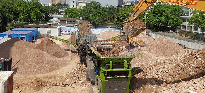 深圳建筑垃圾处理现场