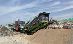 履带式移动long8龙8首页站在陕西建筑垃圾处置项目运行良好