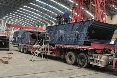 请查收!郑州long8 vip注册17台建筑垃圾处理设备发往江苏