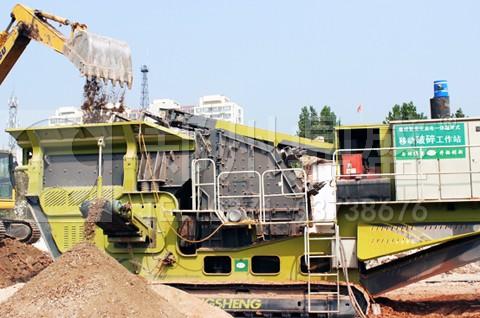 移动式建筑垃圾处理成套设备